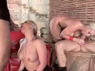 Deux salopes blondes enculées par des grosses bites